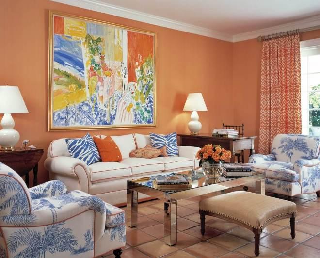 сочетание персикового цвета с другими цветами