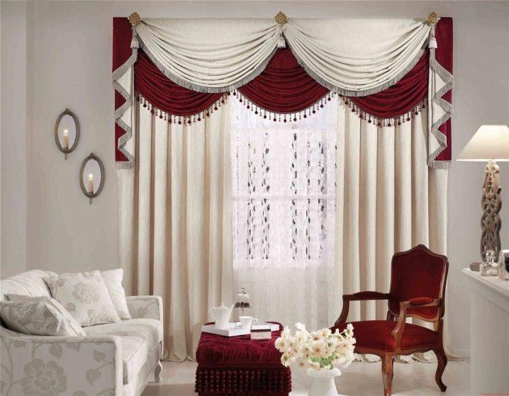 красивые шторы в зал с ламбрекеном