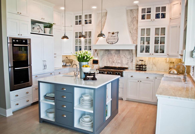 Кухня в стиле прованс в малогабаритной кухне, фото, как украсить интерьер своими руками » интер-ер.ру