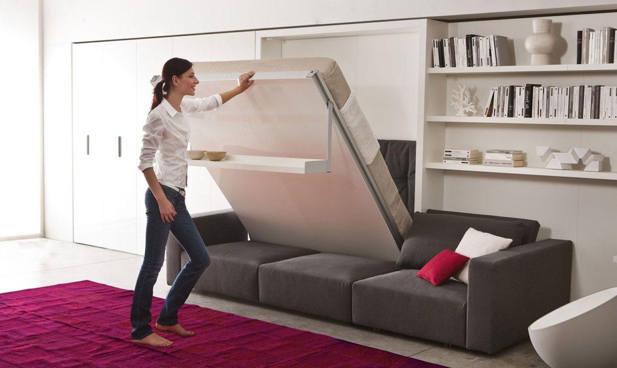 Многофункциональная мебель трансформер. удобная мебель-трансформер для экономии места в маленьких квартирах.