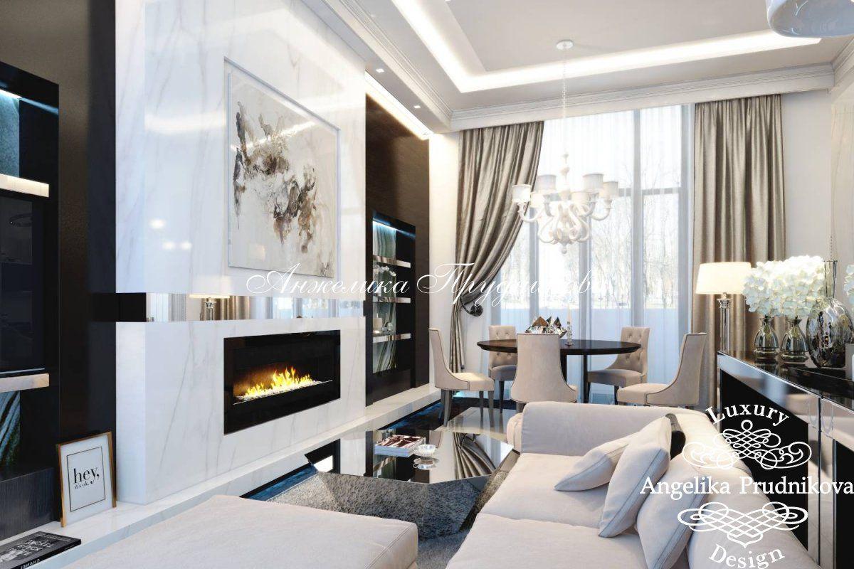 дизайн гостиной в доме фото