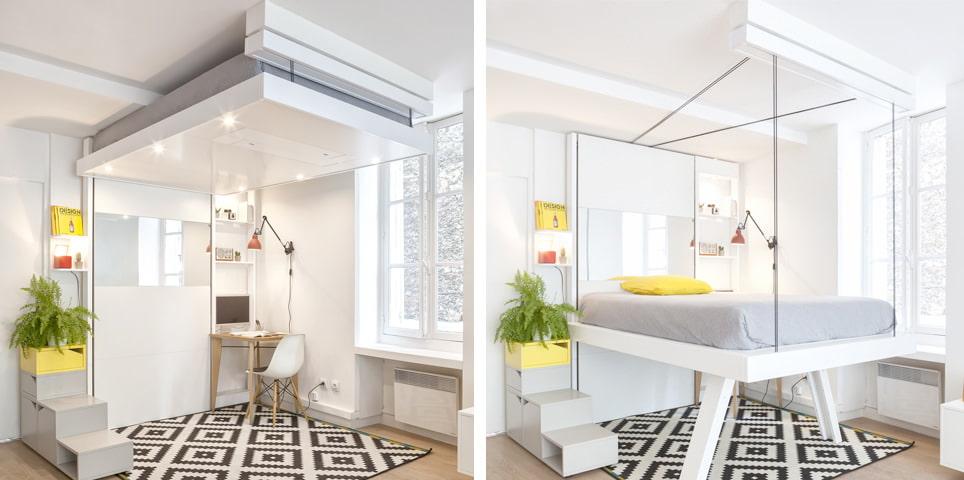 кровать в зале дизайн