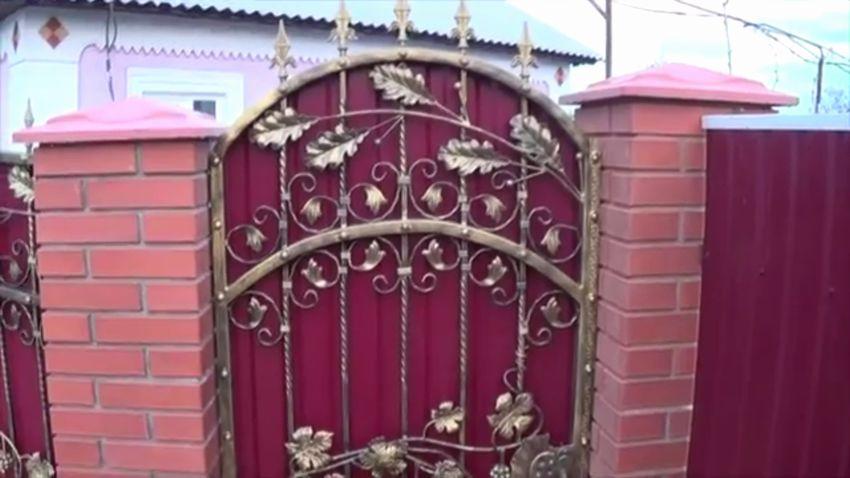 ворота для частного дома кованые
