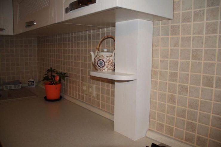 как задекорировать газовую трубу на кухне фото