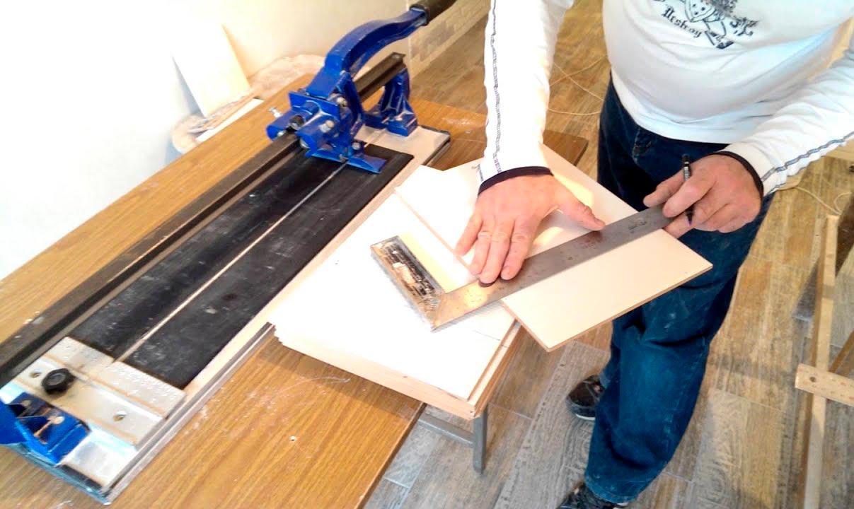 Как правильно резать плитку плиткорезом - всё о керамической плитке