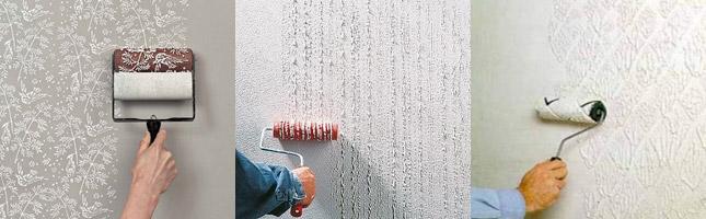 валики для декоративной покраски стен с рисунком