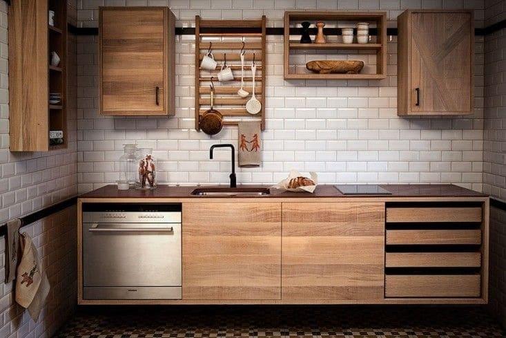 Принципы обустройства прямой линейной кухни: идеи дизайна (+75 фото)