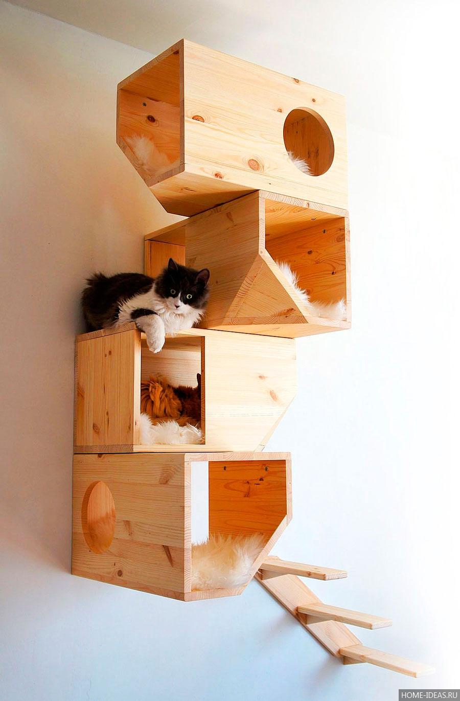 домики для кошек с когтеточкой своими руками