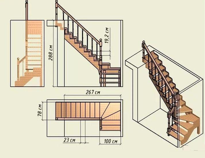 внутренняя лестница на второй этаж