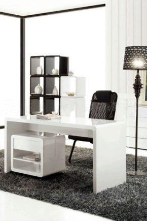 Письменные и компьютерные столы в интерьере 44 фото