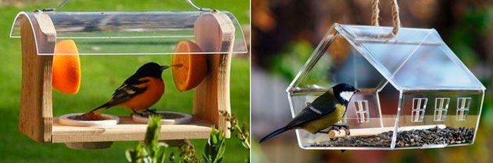 кормушки для птиц своими руками из подручных