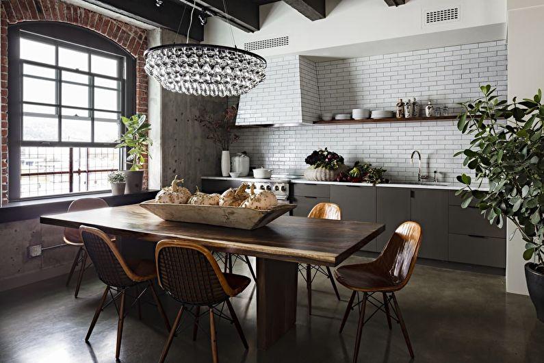Кухня в стиле лофт: идеи для создания индустриальной лаконичности