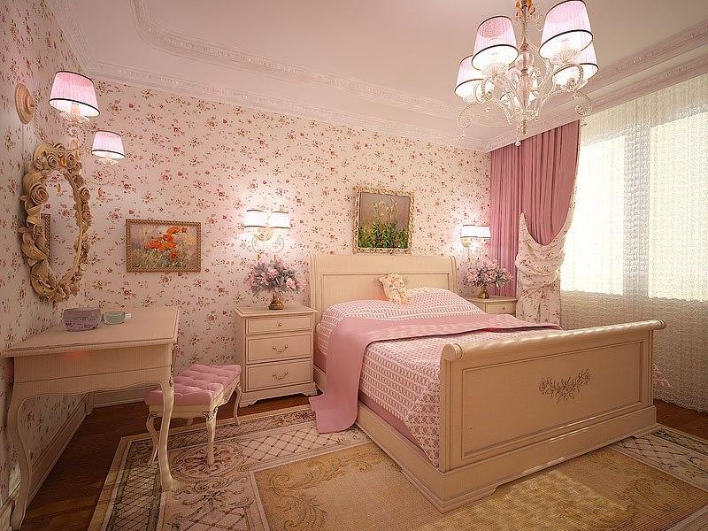 светло розовые обои