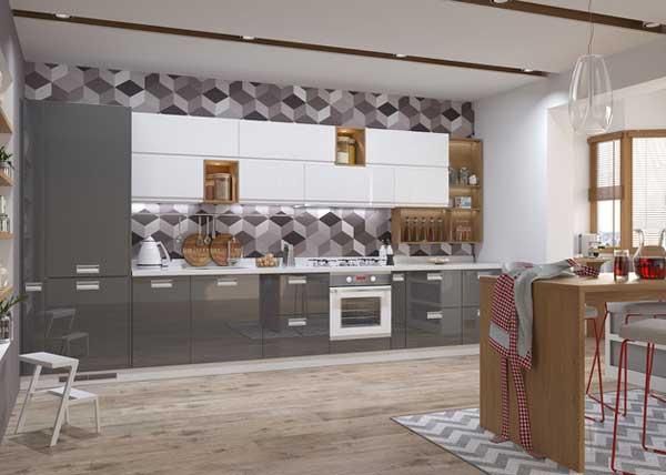 Прямые кухни 2 метра: виды и варианты дизайна