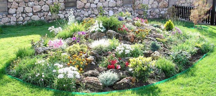 альпийская горка фото на садовом участке