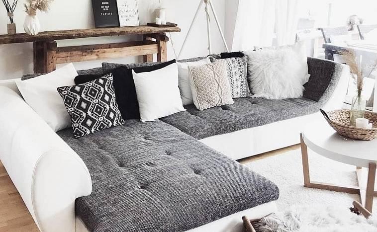 чехол на угловой диван своими руками