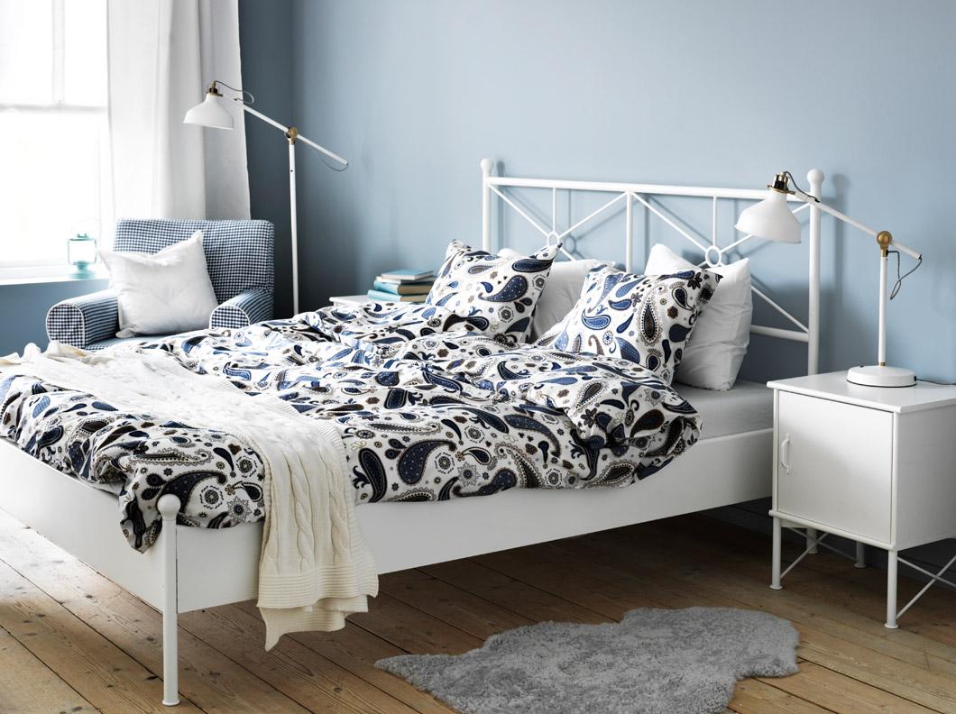 кровать икеа белая