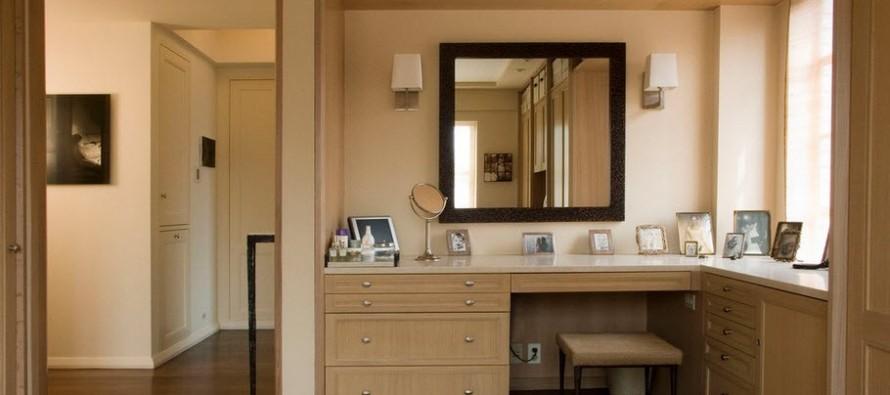 Туалетный столик: фото, виды, формы, материалы, дизайн, освещение, цветовая гамма