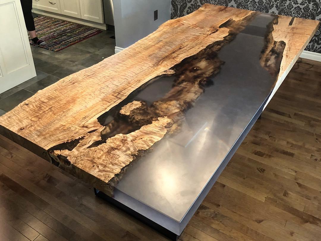 эпоксидные столы из дерева