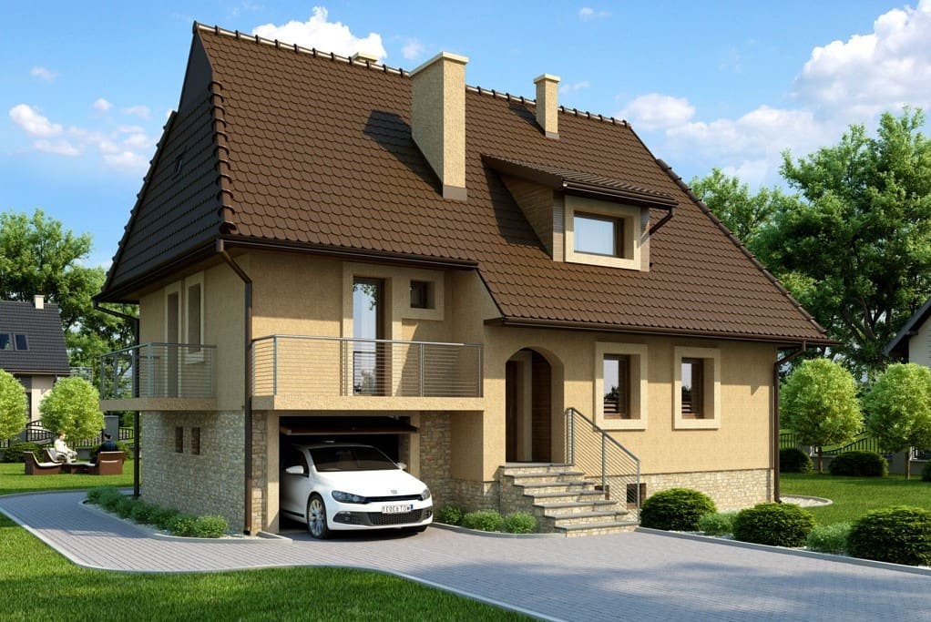 Особенности планировки дома с гаражом на одну и две машины
