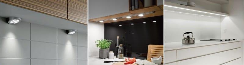 Подсветка для кухни: преимущества и недостатки светодиодного освещения