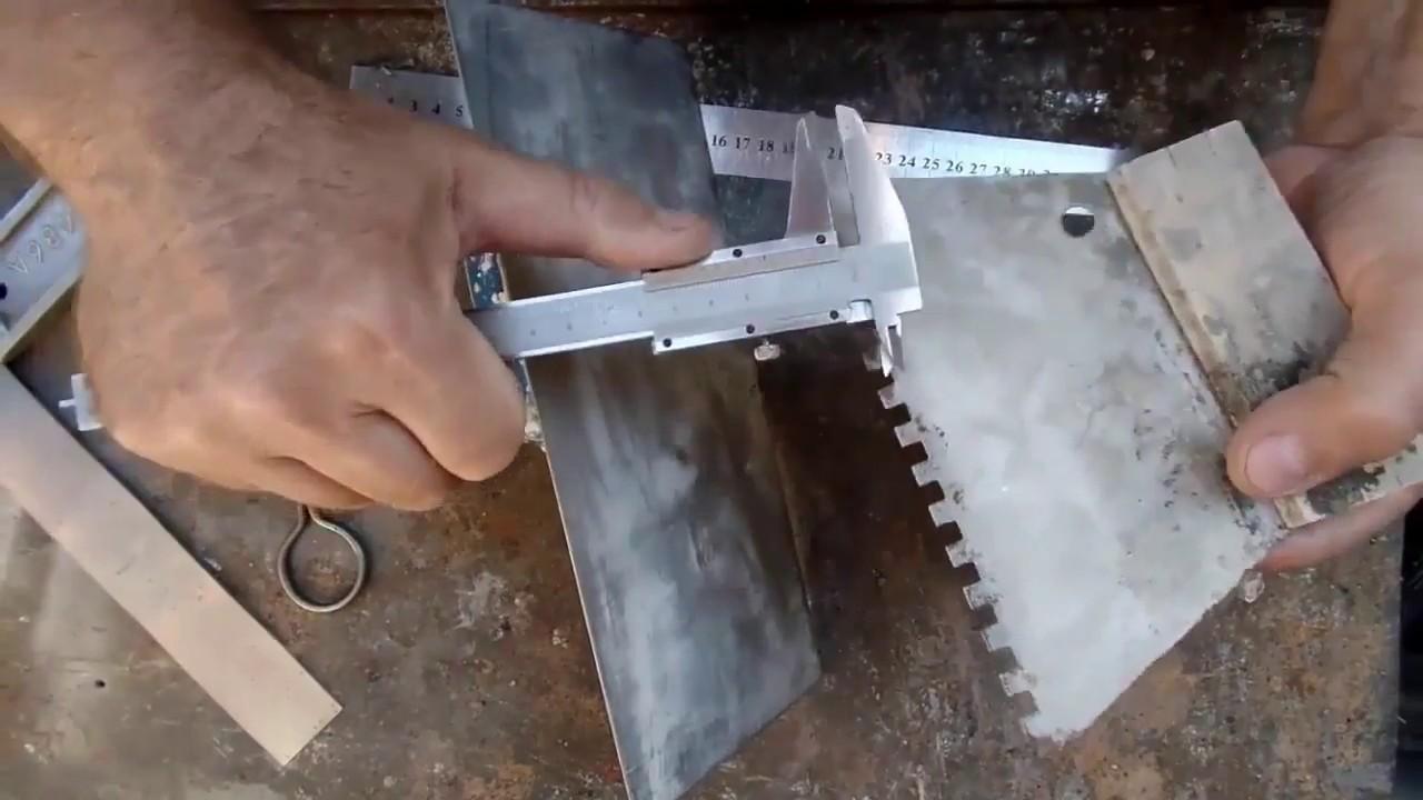 шпатель для укладки плитки на пол