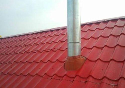 Герметизация трубы на крыше из профнастила - кровля и крыша