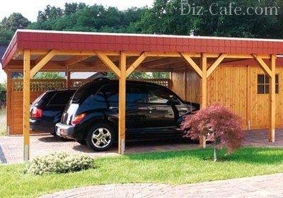 Навесы из дерева для машины (46 фото): деревянные односкатные и двухскатные навесы для автомобилей своими руками, проекты и идеи