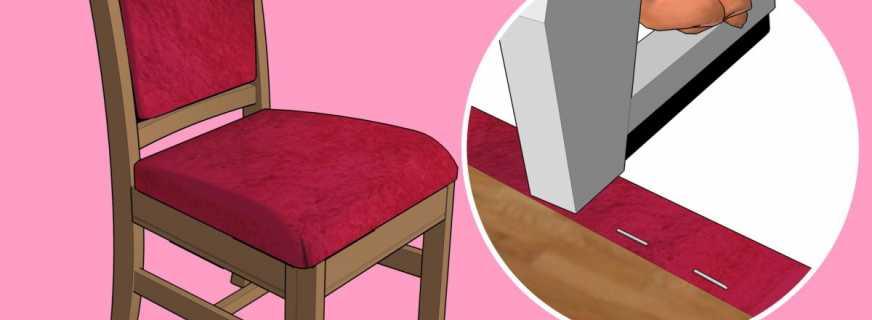 как перетянуть стул своими руками