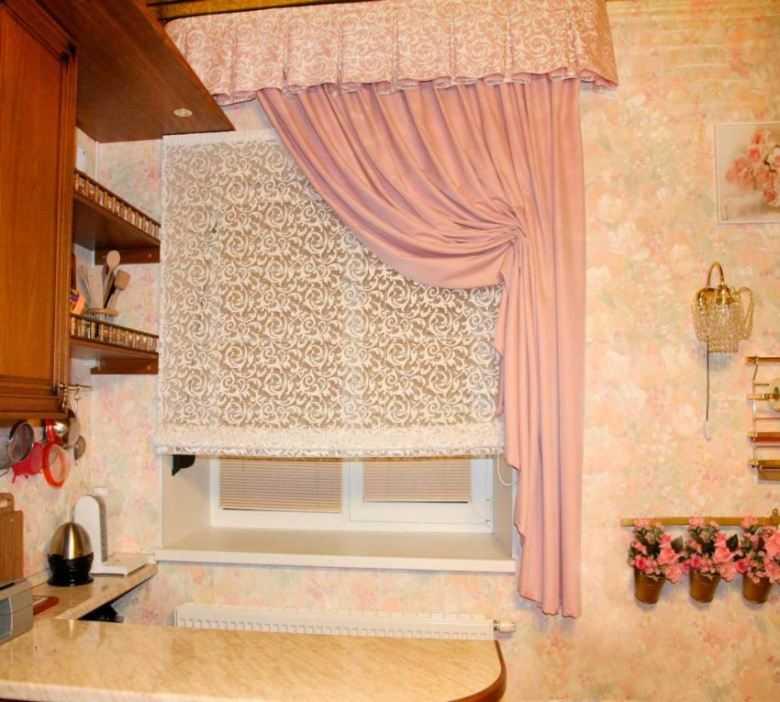шторы на кухню гостиную современные фото
