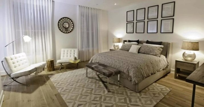 Ковёр в спальне на полу: фото и советы по выбору