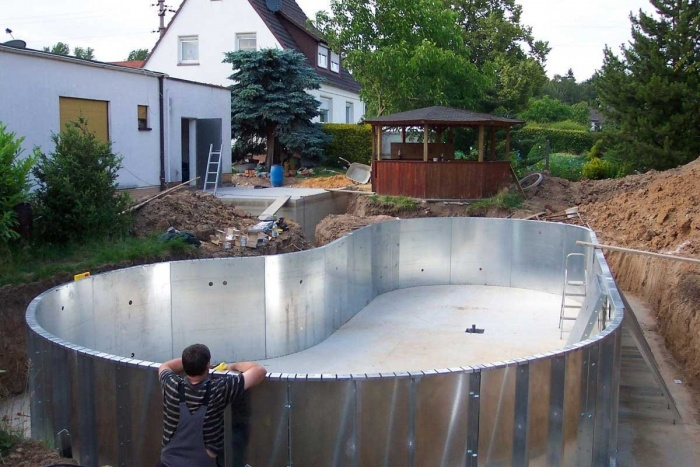 Бассейн на даче своими руками: лучшие идеи с фото