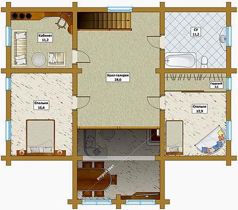 Дизайн второго этажа в частном доме (61 фото): оформление интерьера внутри двухэтажного дома, стильные решения для комнат 2-этажных коттеджей