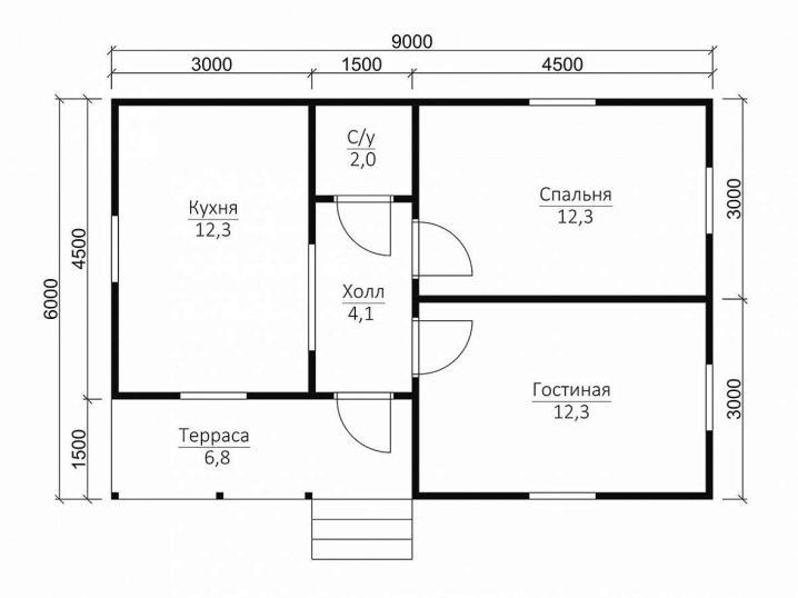 Планировка дома 6 на 6 - 95 фото и особенности зонирования одноэтажных и многоэтажных домов