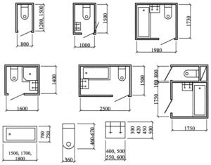 Размеры ванной комнаты: стандартные, минимальные и оптимальные размеры для частного дома и квартиры