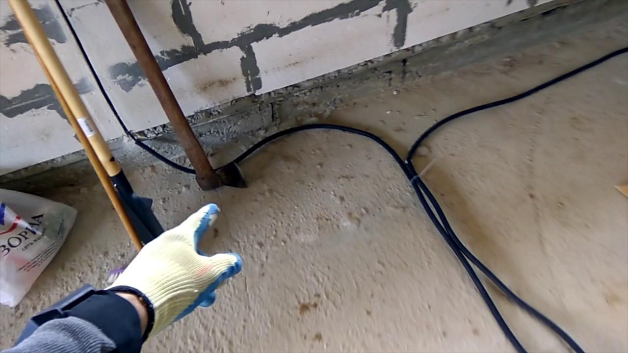Монтаж проводки под полом в доме и квартире