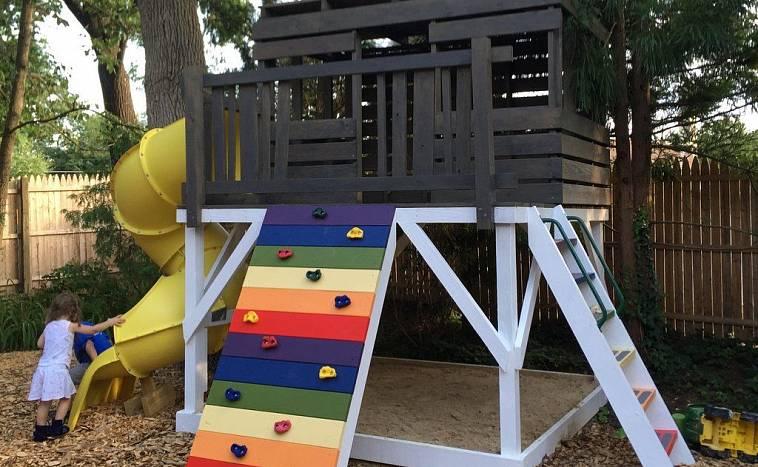 Детские площадки для дачи: самые интересные проекты и советы как построить детскую площадку своими руками