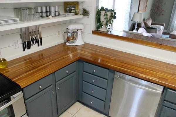 Столешница для кухни своими руками из дерева