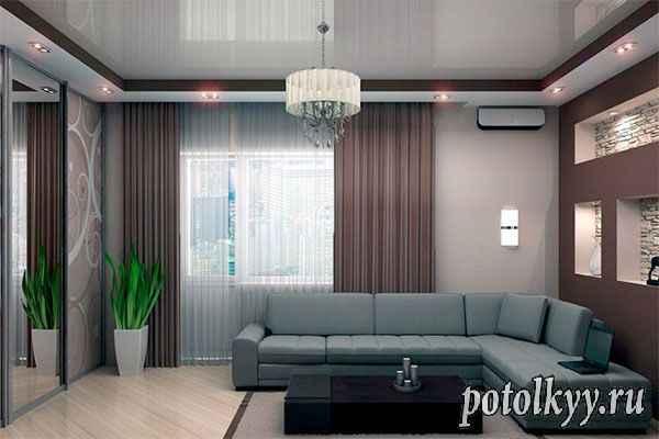 Проектируем натяжные потолки: цвета, дизайн, и 5 форм