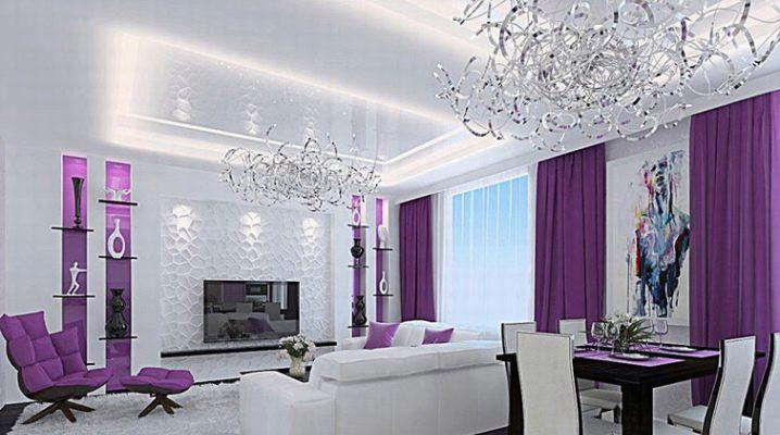 Фиолетовая спальня (68 фото): дизайн в бело-фиолетовых и желто-фиолетовых тонах, идеи интерьера с черными акцентами, значение цвета