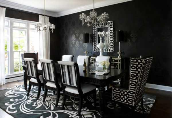 Черная мебель в интерьере: элегантно и выразительно