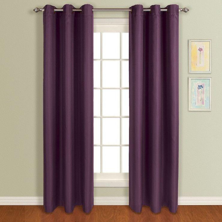 Подбираем шторы к сиреневым обоям по фото примерам