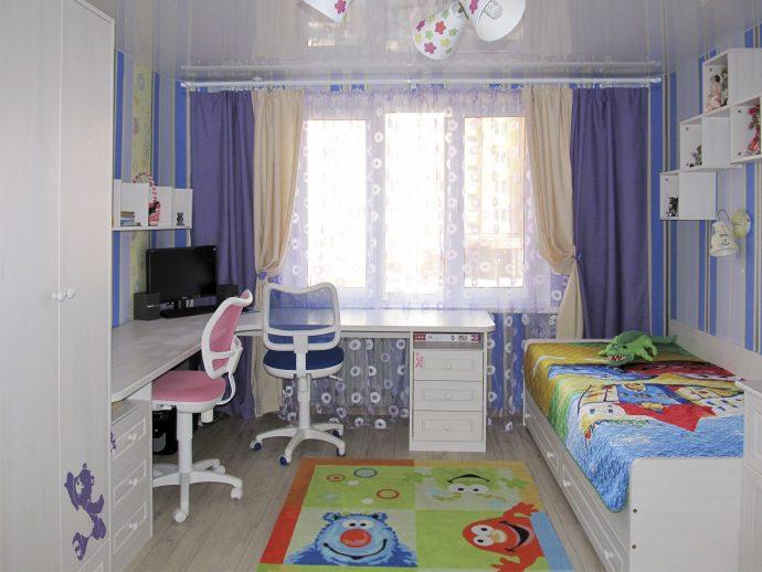 Дизайн детской на троих детей, как оформить и зонировать пространство