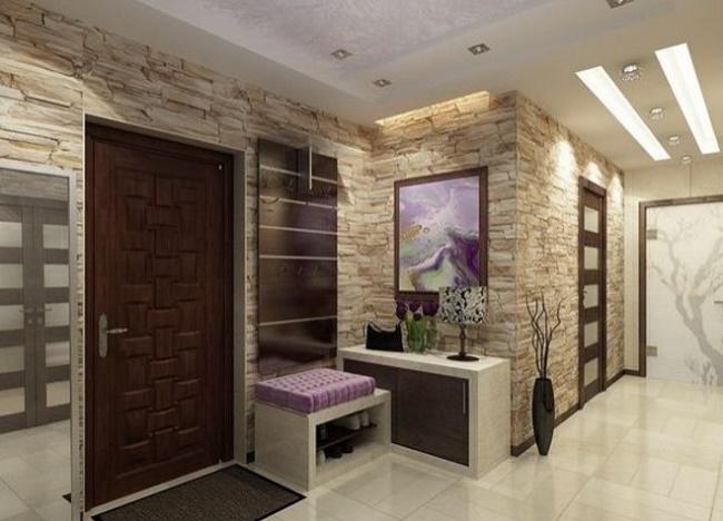 Натуральный и искусственный камень в интерьере кухни