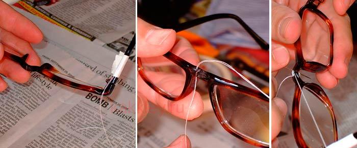 Проведение ремонта оправы для очков в домашних условиях