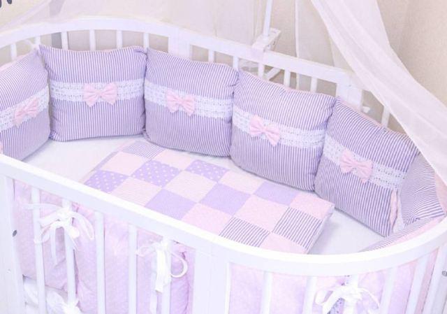 Детская кроватка с мягкими бортиками: 85 фото современных проектов