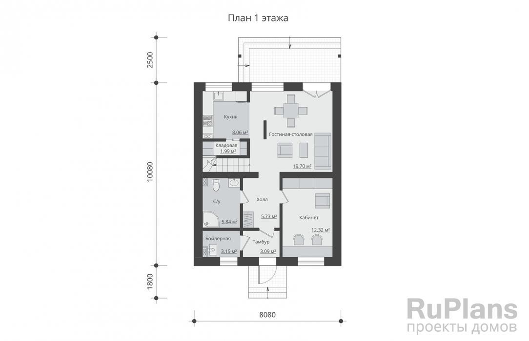 дом 7 на 9 одноэтажный