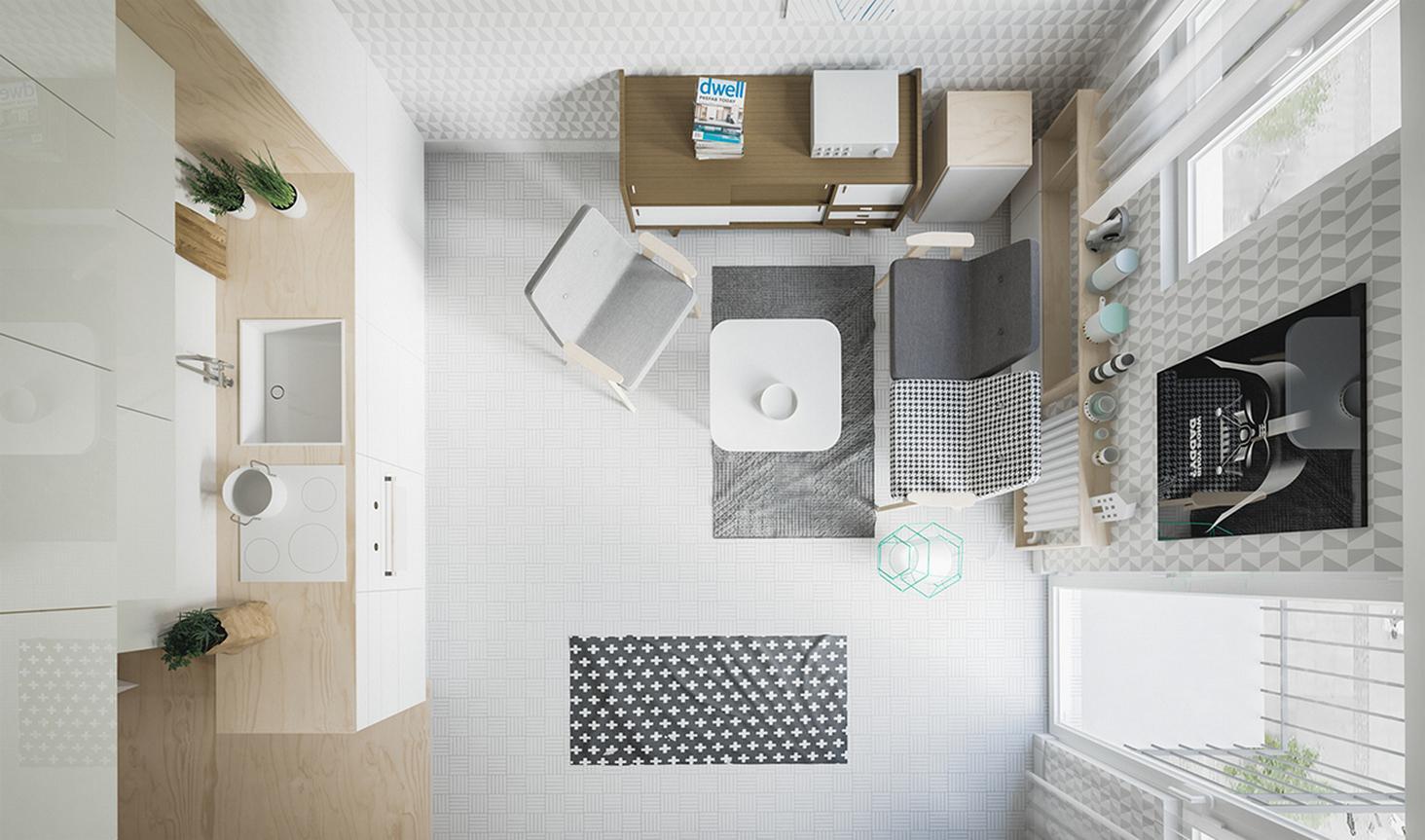 Стильный дизайн двухкомнатной квартиры площадью 50 кв. м