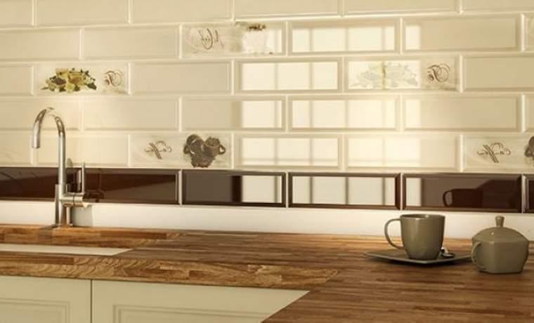 Плитка кабанчик на фартук кухни: виды, цвета, дизайн, рисунки, фото в интерьере