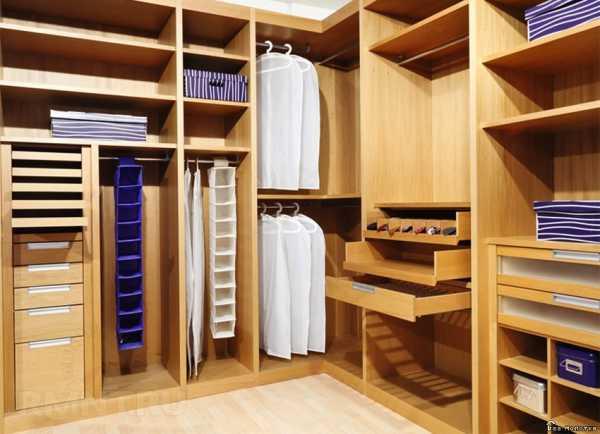 Системы хранения вещей для гардеробной: виды, модели, фото
